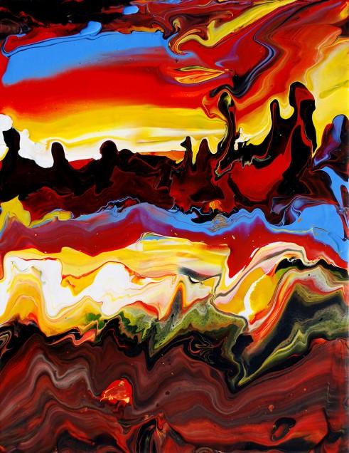Fluid Painting 11 Acrylic on Canvas