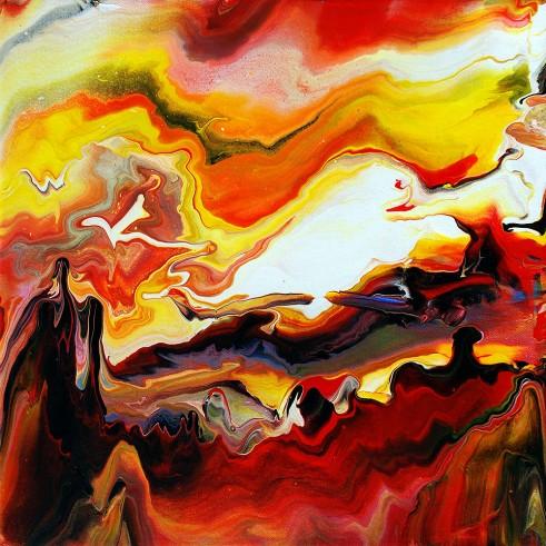 Fluid Painting 5 Acrylic on Canvas