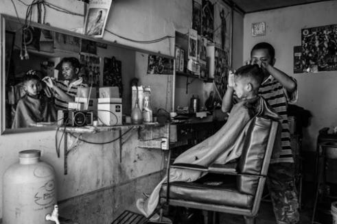 Haircut Pyay, Burma