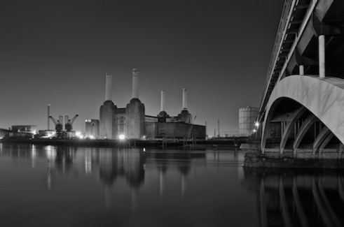 Lights are On, but power is Off Battersea Power Station, such an iconic building standing next to The Thames. Its currently being developed into flats. This London city landmark will never look the same again.