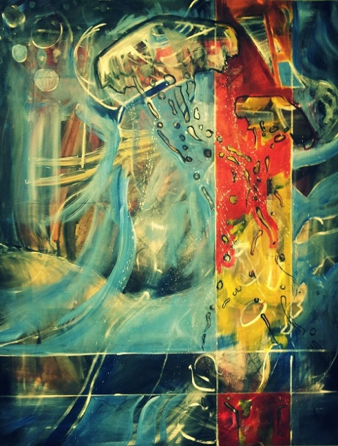 Meduza 2 Oil on Canvas (original) photo filter