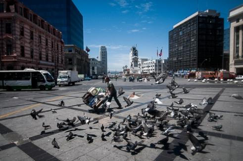 Plaza Sotomayor, lugar donde se alberga el monumento a los héroes de Iquique. Valparaíso. Plaza Sotomayor, Valparaiso, Chile