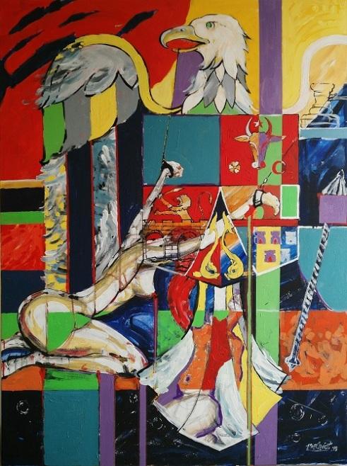 Rape of Justice Acrylic on Canvas