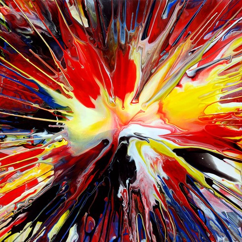 Spin Painting 28 Acrylic on Canvas