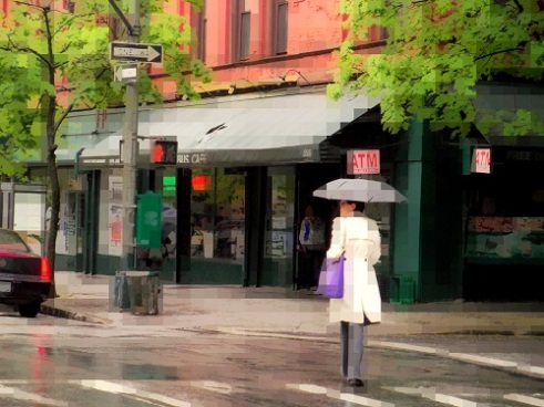 Vigilance of a purple bag. Upper West Side, New York.