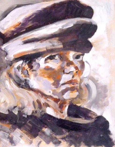 "Self Portrait - oil on canvas - 15"" x 22"""