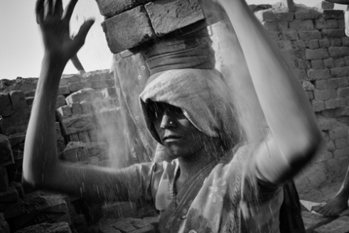 Brick Worker Varanasi, Uttar Pradesh, India.