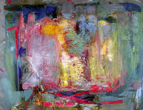 """""""I like Monet"""" Oil on linen"""