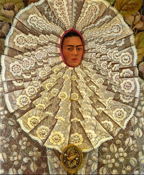 « Frida » Revisited Digital Collage by Hidden Velvet Original Work by Frida Kahlo