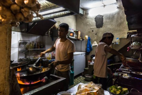 Cooks, Mau Dich Communist Restaurant Hanoi, Vietnam