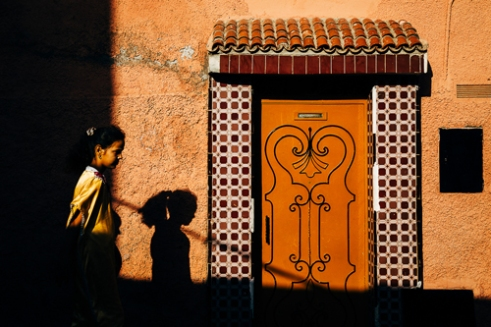 Colours and shadows. Marrakech, Morocco