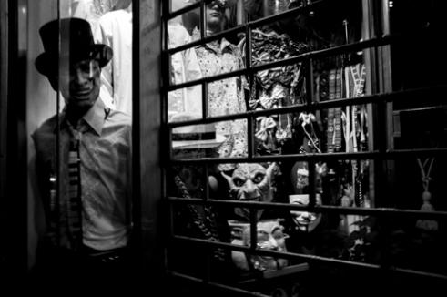 VIA TORINO. A mask shop on Via Torino