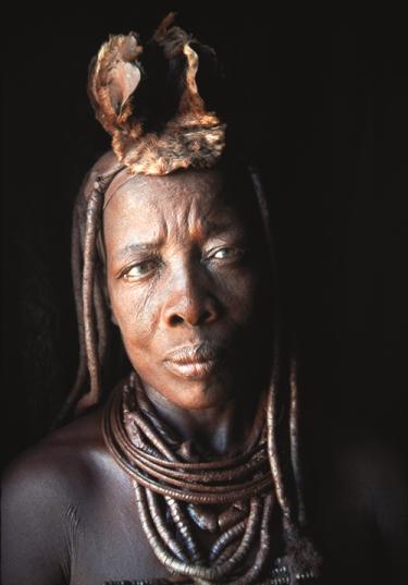 Portrait of Vuaanderua, the Headman's niece. Etanga, Kunene North Region, Namibia, 2000