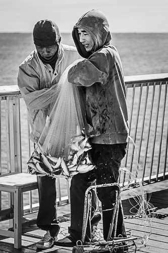 Coney Island Fishermen New York, USA