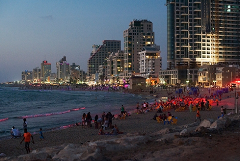 Nightlife in Tel Aviv.