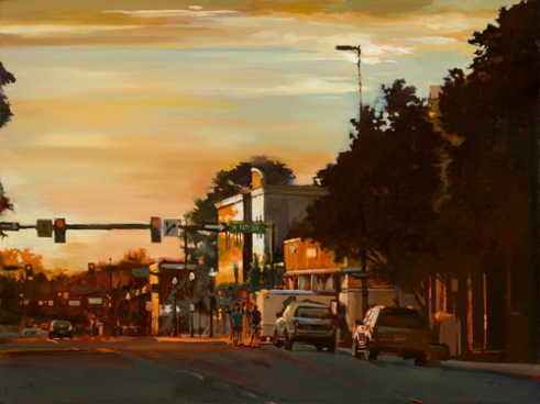 """13th & Idaho St., Boise"" Oil on panel"