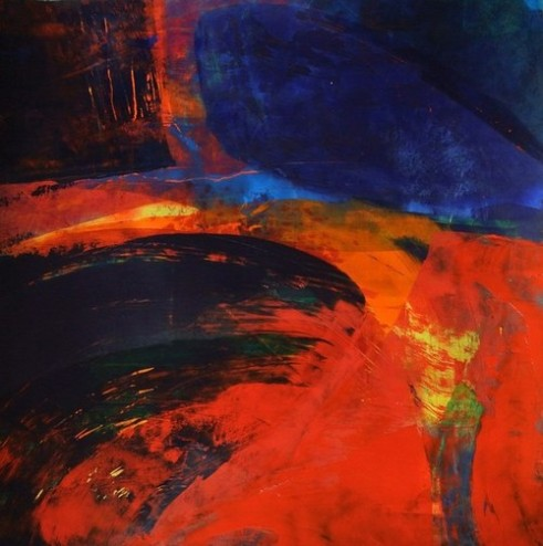 Lessons of Darkness – Lessons of Light Crossing the wild – Lessness Acrylic on Canson card