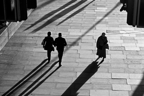 Big Brother is watching in the late afternoon evening sun on the South Bank, London