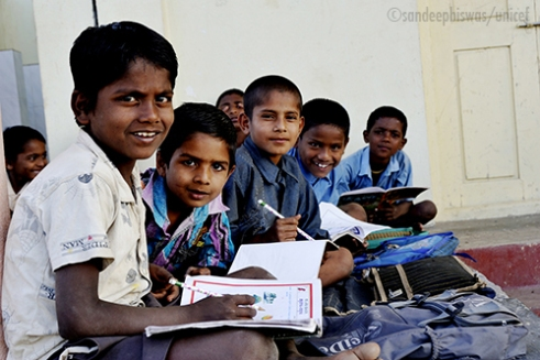 Bhagyanagar Childrens home for Boys, Koppal District, Karnataka, India: Childrens home in Bhagyanagar for boys houses children mostly between 6 – 14 years who are either abandoned or orphaned. Mostly children of migrant laborers and are risked being potential child labor. Few of them are orphaned due to AIDS contracted by their parents. These children are given proper education, hygiene, nutrition, protection and care at the center. These children who live there spend their free time studying, doing various activities and playing together making up for their missing families. Photo credit:Sandeep Biswas/unicef