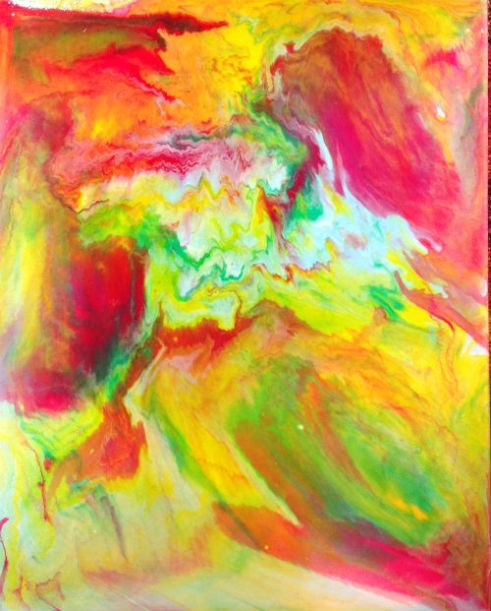 New- Fluid acrylics on gallery wrapped canvas