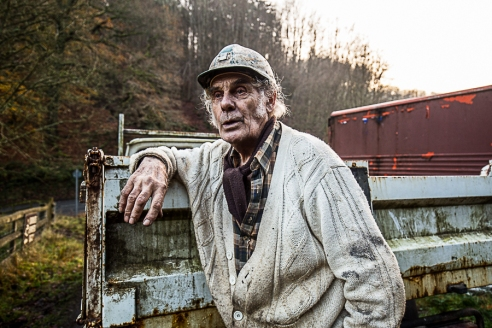 Robin Morgan, Free miner for over 50 years, at the Hopewell Colliery.