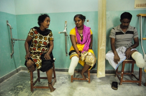 Patients, like Krishna Dutta here, interact with the fellow patients to not only exchange their tragedies, but also learn new lessons of a brighter future: a means to achieve mental solace along with its physical counterpart.