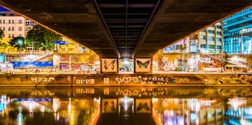 Grafitti Urban Bridge Vienna, Austria