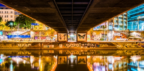 Grafitti Urban Bridge Vienna, Austria