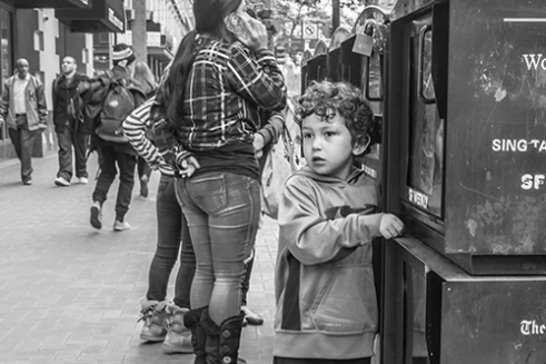 A Child on Market Street San Francisco, California