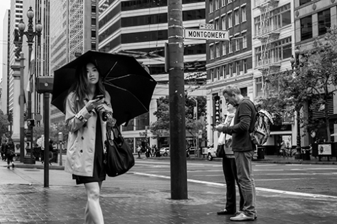 Market Street Rain San Francisco, California