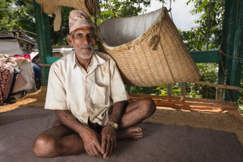 Farmer Humnath Regmi lives and works in the farming community with Dilli Ram Regmi in Sirubari, rural Nepal.