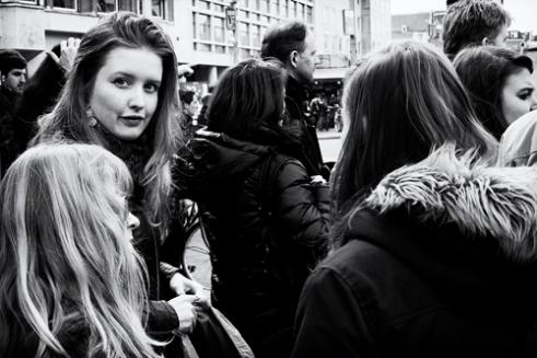 """""""Glimpse in the crowd"""" Dam square, Amsterdam"""
