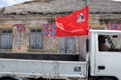 A campaign for the Frelimo party, the biggest party in Mozambique.