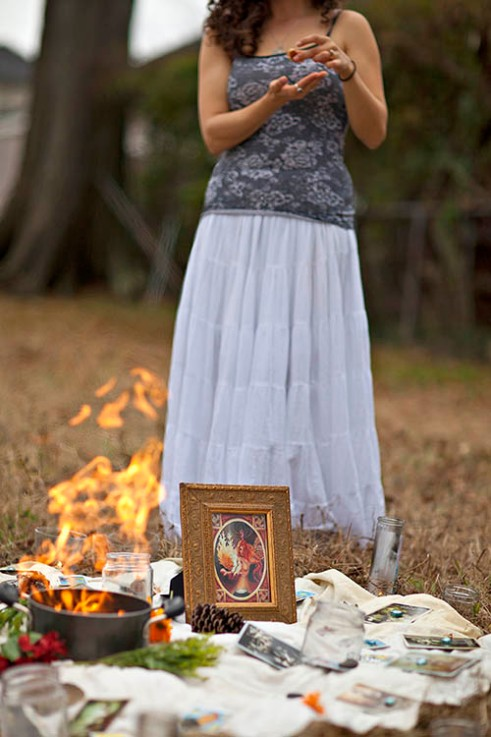Feast of Brigid NEW ORLEANS, LA. Imbolc on February 1st, also referred to as St Brigid's Day marks the start of the Celtic Spring. Local Pagans gather for a ritual and feast to honor the holiday.