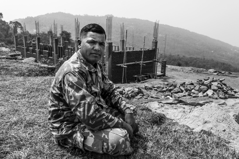 2. The local army chief supervises the construction of new barracks in Bhachchek.