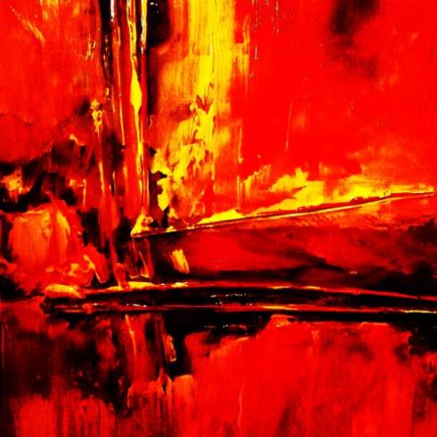 """""""Das Morphine,"""" 2012, Oil on board"""