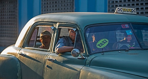 Private Taxi Once reserved for only Cuban Nationals, now open to foreigners/tourist at a higher fare. Central Havana, Cuba