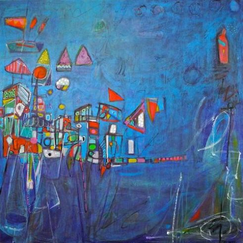 Floating City Acrylic on canvas