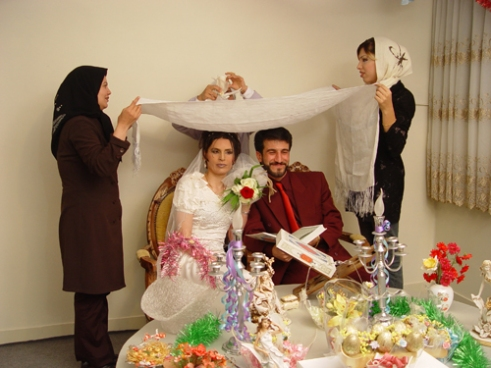 Mona (the bride) after a really long journey changed her gender and got married with a straight man.They had a simple ceremony with their friends in Tehran/ Iran.