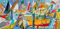 Marina Madness Acrylic on canvas
