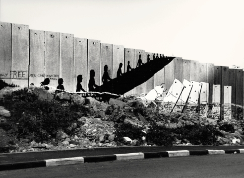 "Bethlehem, West Bank 2010, The Israeli West Bank barrier ""the wall"""
