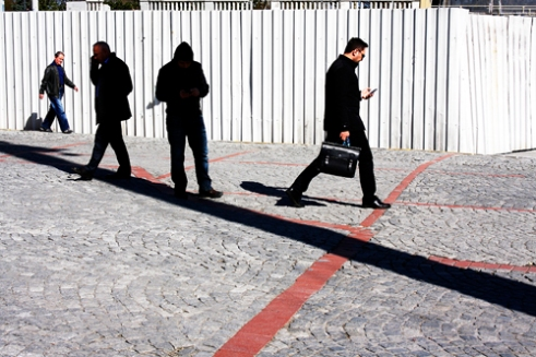 Pedestrians Taksim Square, Istanbul