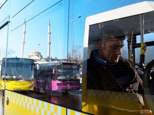 Man in Kadikoy bus Istanbul
