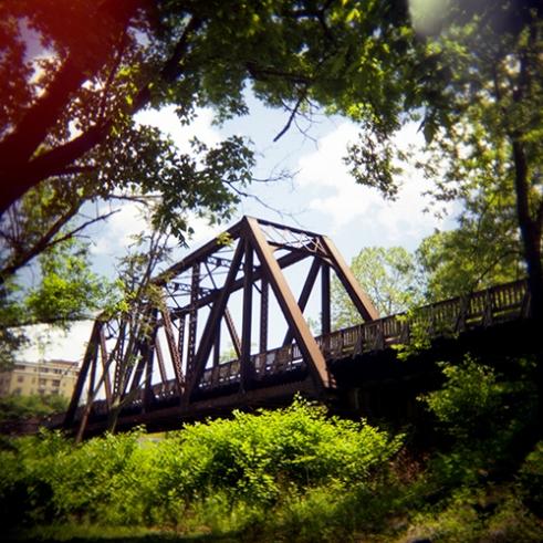 The Mon River Trail, Wharf District Bridge in Morgantown, West Virginia