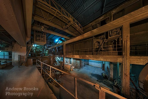 The workings of the Akranes Cement Works.