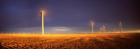 Judith Gap Wind Energy Center at Sunset Montana