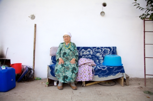 'Babooshka', a name given to a grandmother in both Kazakhstan and Russia. This lady was famous in the village for making the best compote.