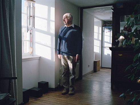 "James Arnold, founding director of the New Lanark Trust overlooks the River Clyde from his home in New Lanark. ""I think with Robert Owen his followers were called socialists because they believed in Robert Owen's social system. He coined the name socialist although it meant something slightly different. I think you have to have that interest in his philosophy and the industrial heritage. I think the combination of these two things and the very strong sense of place that New Lanark has."""
