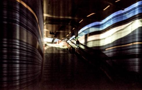 Pinhole photo on film - Station Zwolle, Holland