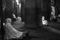Praying inside Bet Medhane Alem Church